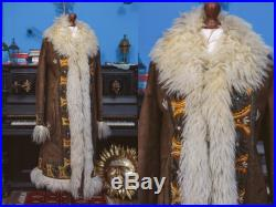 1970's shearling sheepskin embroidered afghan hippie coat. 70s 60s Afghan Lamb Fur Hippie Folklore Penny Lane