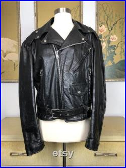 1970s Leather Motorcycle Jacket by Excelled, Size 42 - Such a Classic Style