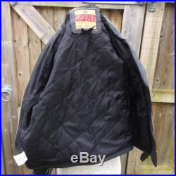 1980's Leather Biker Jacket Motorcycle Cooper Easy Rider Brando Style Size S 36-38 Chest
