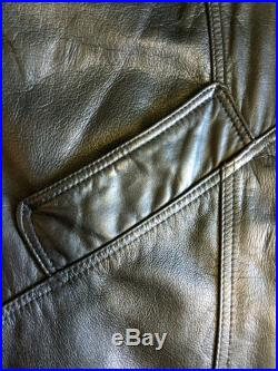 1980's Leather Trench Coat, Savage Trench Coat
