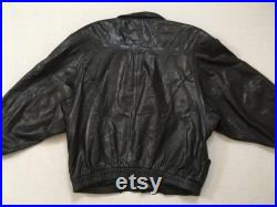 1980's, slouchy, buttery soft, leather jacket, in black, by Marc Buchanan