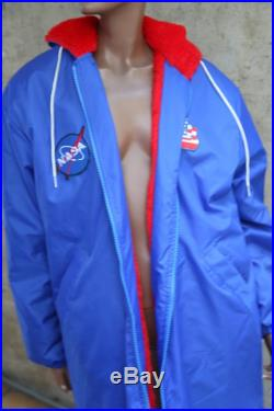 1980s Rad Long Warm Ski Jacket Waterpolo Swimming Sports Athletic Snow Coat Long Jacket 1980s Fashion Strnager Things NAsa PAtched American