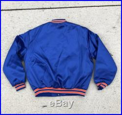 1980s Vintage Cleveland Cavaliers NBA basketball Satin Jacket-Deadstock with original tags-blue-size XL