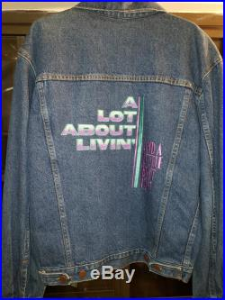 1992 Vintage Rare ALAN JACKSON A Lot About Livin A Little Bout Love Denim Embroidered Jean Jacket