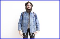 50s Faded French Work Jacket Colored Buttons
