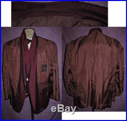 50s Tux Jacket 43R -45R Maroon Burgundy Vintage Tuxedo Early 60s 80s Early Motown Rat Pack Dinner West Side Story by Lord West Union Label
