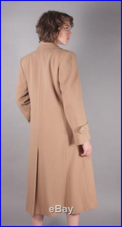 80s Beautiful Camel Wool Trench Coat