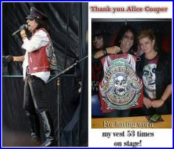 Alice Cooper replica Hand painted leather jacket ,I can produce a leather jacket like this. I have the tool for setting studs on leather.