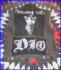 Black Denim Vest Encrusted with Patches, Pins and Epic Metaltude