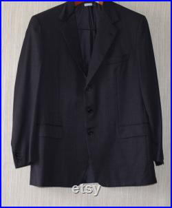Brioni Roma Traiano Wool Charcoal 3 Button Vents Blazer Jacket Sport Coat Size 42R
