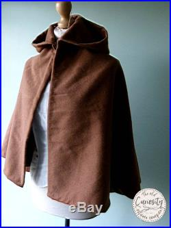 Brown wool hooded cape cloak. Perfect winter cover-up
