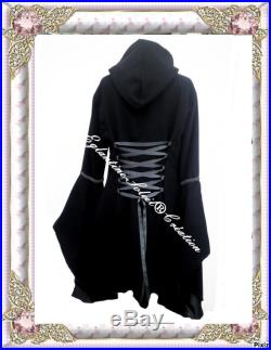 Coat medieval Gothic steampunk cloth of wool and polar tailor-made