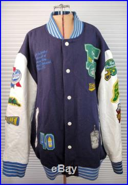 College Ecko Unltd Letter Jacket. 3XL. Loaded With Patches.