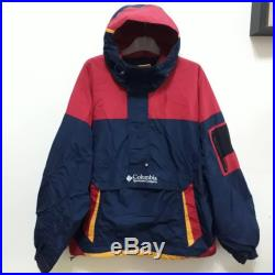 Columbia Sport Jacket Hoodie Sportswear Company Half Zip Puffer Multicolor Outdoor Down Winter Warm Up Coat Sz L good condition