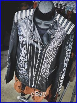 Custom Faux Leather Jacket, Witchy Things, Witchy Gifts, Moon, Punk Jacket, Goth Clothing, Gothic, Punk Clothing, Shredded Dreams, Medium