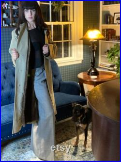 Custom Removable Fur Lined Vintage Burberry London Trench Coat Single Breasted Duster Jacket Fall Winter