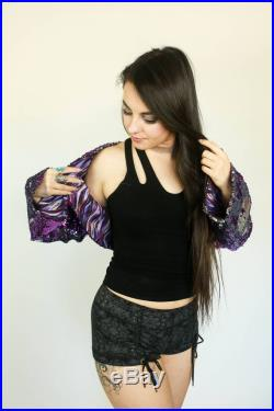 Custom Two-tone Flip Sequin Bolero Jacket by Sublime Designs-Your choice of Sequins and Liner Fabric