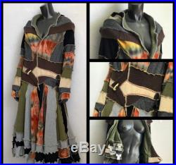 Custom made upcycled sweater coat, deposit only, recycled clothing, deposit to begin work