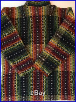 Ethnic Boho Coat Bolivia Amazing Complicated Abstract Weave in Yummy Rich Color Native Pattern Design Inspired Textile