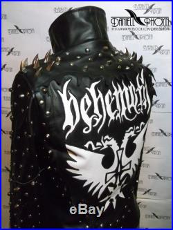 Extreme Leather Jacket with spikes