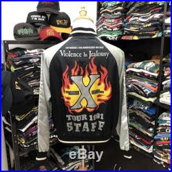 Extremely Rare X Japan Band Sukajan Staff Jacket Violence In Jealousy Tour Psychedelic Violence X Crime Visual Shock
