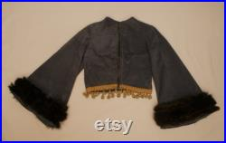 Fabulous Bell Sleeve, Fur trimmed, High neck, Cropped Jacket
