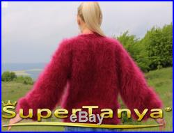 Fuzzy mohair cardigan in purple by SuperTanya