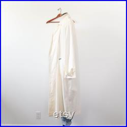 Gene Ewin BIS White Cotton Duster Trench Coat
