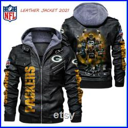 Green Bay Packers NFL Team Leather Jacket For Men and Women