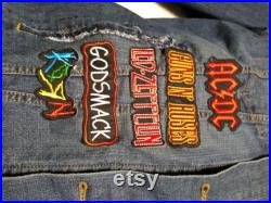 Heavy Metal Hard Rock Denim Jacket Size mens unisex XL with Rock Metal Patches and Quilted Back Patch Exodus
