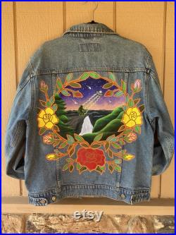 I Want to Believe Hand-Painted Vintage Denim Jacket