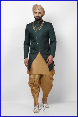 Indian Designer indo Ethnic Wear Ceremony Dress for groom Outfit Traditional Festive Wedding Ethnic outfits Party Wear