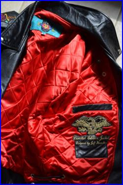 Invoice for Olga, for 1) Betty Boop Leather jacket475 2) Vintage Black Leather Motorcycle Tattoo Jacket 900
