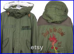 Maharishi Rare Vintage U.S. ARMY M-65 Recycled DPM Fishtail Parka Tag size L (baggy fit)