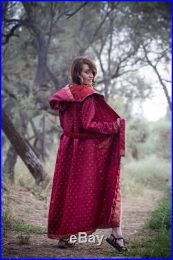 Majestic Red Cape With Hood