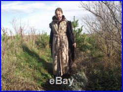 Medieval elven coat in brown,doublelayered,with two colours and sides