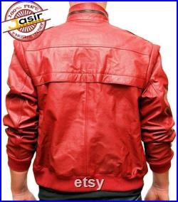 Men's Cobra Kai The Karate Kid Johnny Lawrence Red Real Genuine Leather Jacket