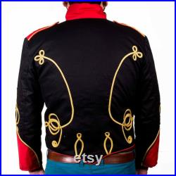 Men's Emo Punk Goth MCR Officer Military Drummer Parade Marching Band Jacket for unisex adult