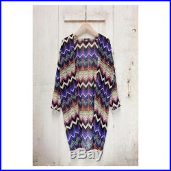 Men s Women s Purple Orange Zigzag Transparent Summer Kimono Festival Holiday Beach Evening Jacket Coverup