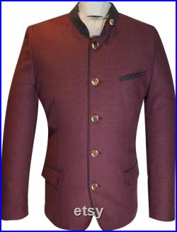 Men's traditional jacket of the brand OS in red new style design