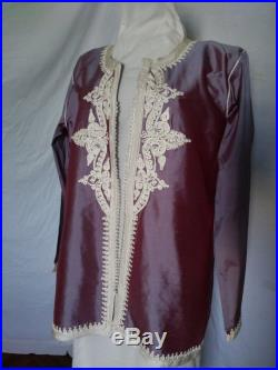 Moroccan Iridescent Lavender Jacket with Trim