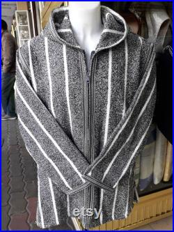Moroccan Tunic. Warm wool, Free shipping Stunning Bohemian, clothes for men, coat men, Jacket for winter