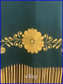 Native American Inspired Pow Wow Embroidered Dance Shawl