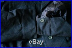 Navy Blue Cropped Wool Military Jacket Patch Pocket Military Coat Women's Small Blue Army Jacket US Navy Officer Jacket Vintage