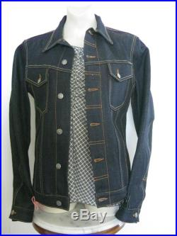 Nudies Jeans Selvage Hemp Billy Trucker Jacket Medium Small