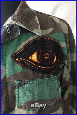 Old Issue Camo with African Wax Print Details Refugee Made Dark Eyes