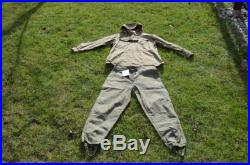 Old Military Set Green Canvas Anorak and trousers , Vintage Canvas Anorak and trousers, Fishing set, Jammer green canvas set for hunting
