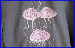 One of a Kind Grey Handmade Embroidery Jelly Fish Jacket