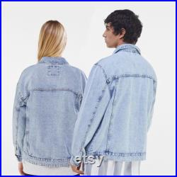 Painted denim jacket, garment, handpainted, custom according to customer's wishes, perfect as a gift, unique, hand painted,Mersedes jacket