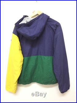 RARE Vtg 90's POLO by Ralph Lauren Color Block Fleece Lining Hoodie jacket K swiss Lo life Polo Sport Polo stadium sportsman P wing guess